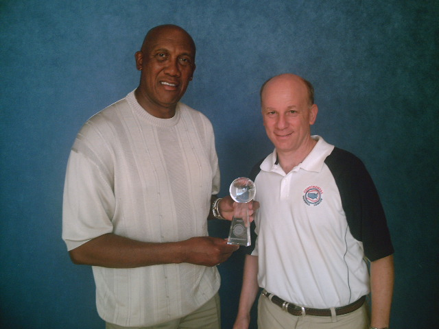 Ferguson Jenkins 2007 Continental Baseball League championship trophy