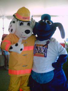 Thunder Dog with Sparky mascot