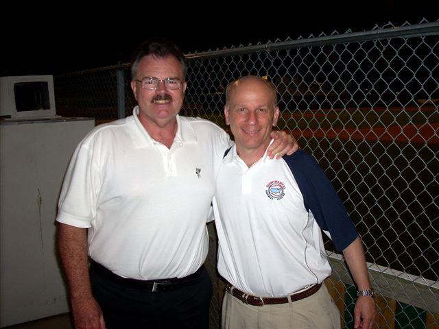 ron baron and bob ibach 2007 continental baseball league all-star game league city texas