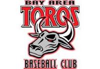 bay area toros baseball club logo continental baseball league independent professional logo