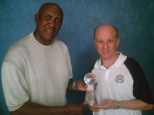 Ferguson Jenkins 2007 Continental Baseball League championship trophy Ron Baron 1