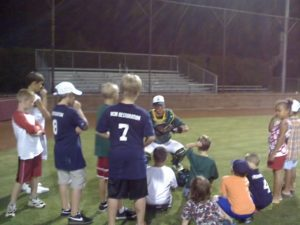 Lewisville Lizards post-game lesson Lewisvile High School 2007