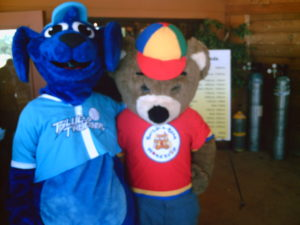 Thunder Dog with another mascot