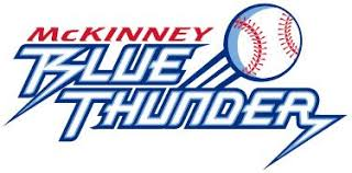 McKinney Blue Thunder 2008 Continental Baseball League logo