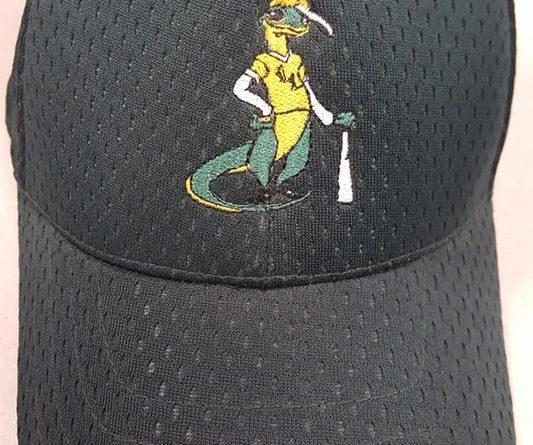 lewisville lizards 2007 green independent minor league baseball cap