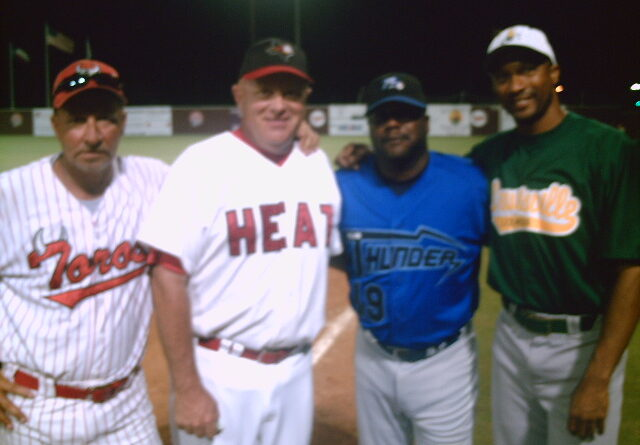 managers of 2007 continental baseball league all star game - tom goodwin, curtis wilkerson, royce holder, jim bolt